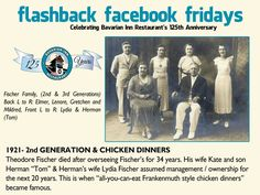 Our Flashback Facebook Friday did not post for us on Friday so, here it is. Better late than never!  Each week during 2013, we will feature a flashback photo and share our history. Please share these weekly postings with your friends and family and join us in celebrating our 125th anniversary.  Week-4 The second generation of the Fischer family takes ownership.