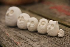 Owl inspiration for clay ornaments