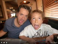 Carson and dad on his 8 birthday