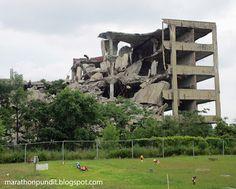 Marathon Pundit: Detroit: Crumbling factory next to a cemetery