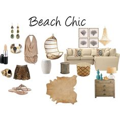 Beach Chic by Zuniga Interiors on Polyvore