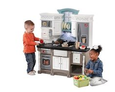 Plastic Play Kitchen Step 2 indoor/outdoor plastic playset house with mailbox and sand and