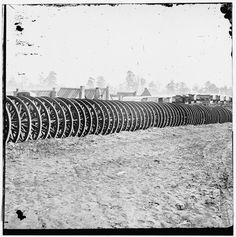 City Point, Virginia (vicinity). Park of army wagon wheels