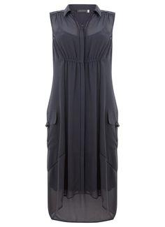 Steel Utility Shirt Dress | Dresses & Jumpsuits | MintVelvet