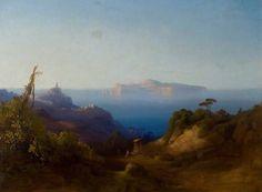 (Attribuito a) Consalvo Carelli (1818-1900) View of Capri