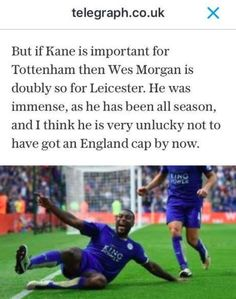 That moment when Harry Redknapp said Wes Morgan should be called up by England...  Even though he has 25 Jamaica caps...