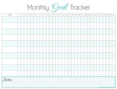 monthly goal tracker. this would help ALOT. keep me on track and actually develop a routine.
