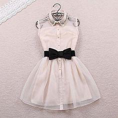 Women's Sleeveless Tank Vest Dress - USD $ 22.74