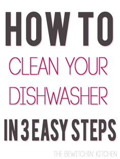How To Clean Your Dishwasher. You would never wash your dishes in a dirty sink, so why use a dirty dishwasher? Even if your dishwasher looks clean, hidden dirt can build up.