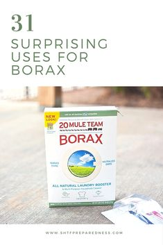 31 Surprising Uses For Borax - If you know how, you can use borax to clean the kitchen and bathroom, deodorize every other room, keep pests away, kill weeds, and even entertain the kids. That's why borax is so popular among homesteaders.