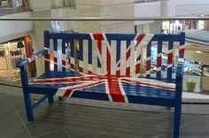bench with union flag @ terminal 21 Bangkok