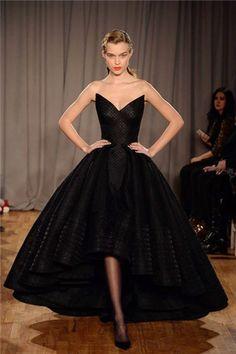 black dress ball gown
