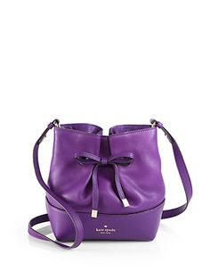 Kate Spade New York - Purple West Valley Bow Crossbody Bag - Saks. durupaper.com #kate_spade