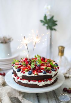 Hello everyone! I am beyond excited to share this blog post with you, for my Vegan Chocolate Cake with Berries and Whipped Cream! I still can't believe my eyes