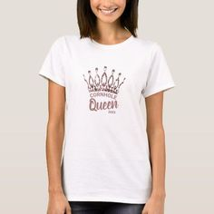 Let them know you're the Cornhole Queen with this cute custom shirt featuring a chic and trendy rose gold glitter crown. Personalize it with your own phrase and date. Feel free to contact me if you need help or a custom order.