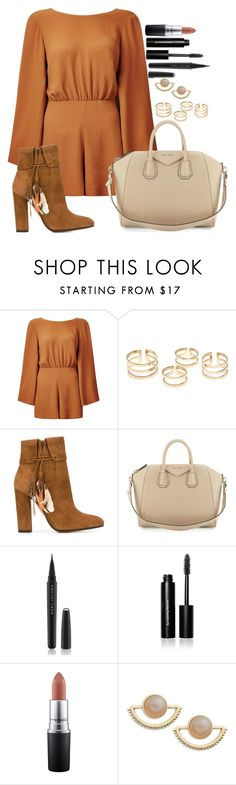 """Untitled #1388"" by fabianarveloc on Polyvore featuring Aquazzura, Givenchy, Marc Jacobs, Bobbi Brown Cosmetics, MAC Cosmetics, T+C by Theodora & Callum, women's clothing, women, female and woman"