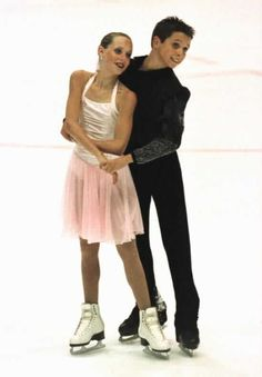 Tessa Virtue and Scott Moir skating the Foxtrot compulsory dance at the 2002 Lake Placid Championships. Photo by Barry Mittan.