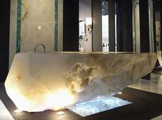 Unique Bath Tub Made Of Stone Crystals with style Jacuzzis, be in use for three people. Description from…