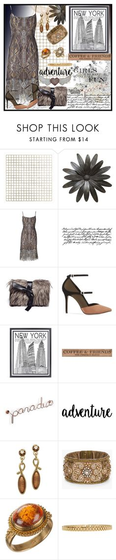 """Party Dress"" by jeneric2015 ❤ liked on Polyvore featuring Art Addiction, BCBGMAXAZRIA, Tim Holtz, Vasic, Reiss, Stephenson, DutchCrafters, Chico's and AMBUSH"