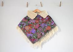 Woven Children's Wool Fringed Cape by thevintagejesus on Etsy