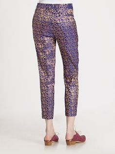 Haider Ackermann  Silk Brocade Pants