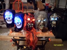 Make your mask into a glowing eye prop.