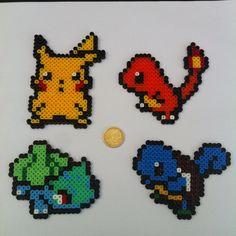 Pokemon Themed Perler Sprites 4 Pack by TieDyePixels on Etsy