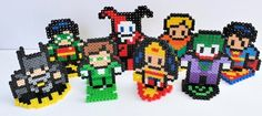 """Gaming Beads presents our DC Comics-based """"Mini Heroes & Villains Series 1 Set.""""   Choose from the stand-up displays or fashioned into magnets. Purchase the full set or individual characters. Custom requests are welcome!"""