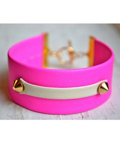 pink neon cuff #neon