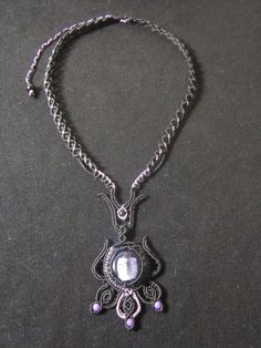 Macrame necklace by Ursulaa on DeviantArt