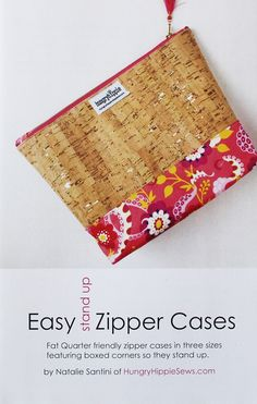 Sewing Zipper Cases is EASY with this sewing pattern. These cases are easy to sew up and make great gifting or selling. This pattern has instructions for t Cork Fabric, Fabric Gifts, Meaningful Drawings, Drawings For Boyfriend, Clutch Pattern, Patchwork Bags, Sewing Patterns, Bag Patterns, Book Crafts