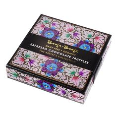 Packaging: boxes are handmade using traditional art form practiced by artists in Kashmir, India. Booja Booja Organic Truffles