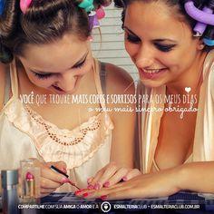 Muito mais economia: Assine a ♥ EsmalteriaClub ( www.esmalteriaclub.com.br ) junto com sua amiga e compartilhe também essa felicidade. Amigas que amam esmaltes, juntas por uma ♥ paixão