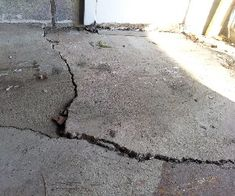 Residential Concrete Floors, Concrete Garages, Garage Entry, Old Garage, Repair Cracked Concrete, Garage Transformation, Water Issues, Converted Garage, Garage Repair