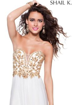 Elegant Strapless Shail K Dress 3900