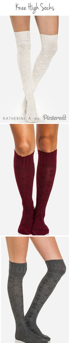Knee High Socks #fashion #comfort #style #accessories #socks #Fall #winter #cute #present #gift #holiday