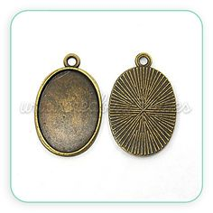 Camafeo tono bronce viejo Cabuchón: 18x25mm