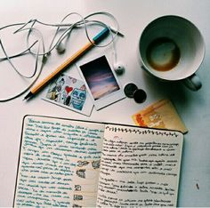 The way most study periods are spent - coffee, music and multicoloured pens... #studying #exam #teenlife