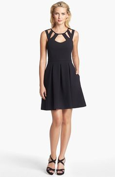 Betsey Johnson Cutout Fit & Flare Dress available at #Nordstrom