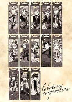 Lobotomy Corporation - The Cast Horror, Gaming, Korean, Random, Painting, Character, The Body, Videogames, Korean Language