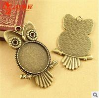 A3566 envío gratis 20 unids/bolsa accesorios de tamaño 25 mm plata bronce owl antiguo diy resultados de la joyería colgante para accesorios de cadena