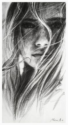 girl.charcoal.indie by AndriyMarkiv.deviantart.com on @DeviantArt