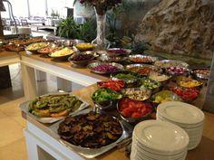 Beautiful Israeli breakfast spread Israeli Breakfast, Pita Bread, Fries In The Oven, Holy Land, Stuffed Green Peppers, Couscous, Beets, Geography, Celery