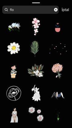 craft flowers Gif gifts for her flowers Instagram Blog, Instagram Emoji, Creative Instagram Stories, Instagram And Snapchat, Instagram Story Ideas, Instagram Quotes, Snapchat Search, Flowers Gif, Drawing Flowers