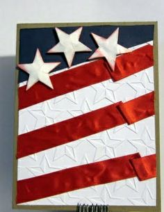 Fourth of July patriotic flag card.