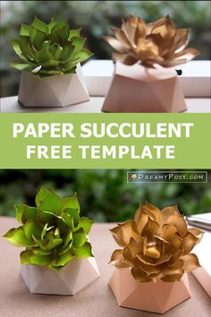 So easy to DIY paper succulent Easy Paper Crafts, Diy Paper, Silhouette Machine, Silhouette Cameo, Paper Succulents, Printer Paper, Crepe Paper, How To Make Paper, Flower Tutorial