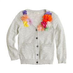 Girls garden party V-neck cardigan from J.Crew. I love this but wonder if I could make something similar for a lot cheaper.