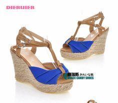 YESSTYLE: Grace Candy- T-Bar Wedge Sandals