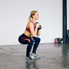 Kettlebell Moves To Burn More Cals | Squat and Curl: Works biceps, upper back, abs, legs
