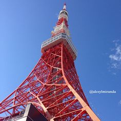 Tokyo Tower painted in vivid red, commemorating the first sales of Coca Cola in Japan!